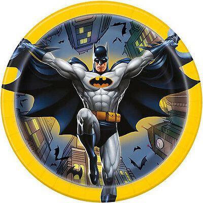 Batman Party Plates (BATMAN Gotham Hero SMALL PAPER PLATES (8) ~ Birthday Party Supplies Cake)