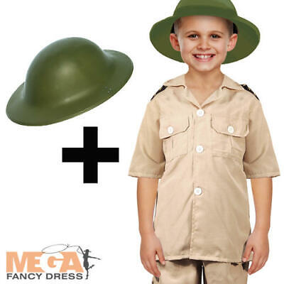 Safari Explorer + Hat Boys Fancy Dress Zoo Keeper Uniform Kids Costume Outfit - Children's Zoo Keeper Costume