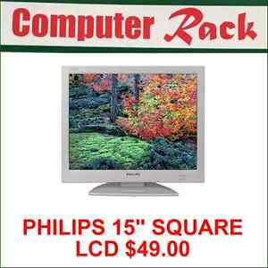 "PHILIPS 15"" SQUARE LCD MONITOR FOR SALE"
