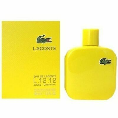 EAU DE LACOSTE JAUNE BY LACOSTE 3.3 OZ EDT SPRAY *MEN'S PERFUME* NEW IN BOX
