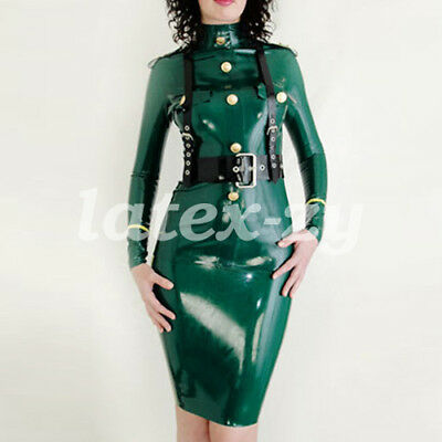 LATEX RUBBER WOMEN HANDSOME SEXY POLICE UNIFORMS DRESS ENGER ROCK 0 4MM S XXL