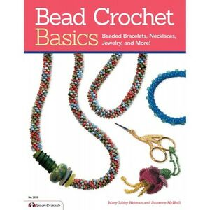 BEAD-CROCHET-BASICS-Jewelry-Beaded-Beading-Craft-Book-Bracelets-Neck-Seed-Beads