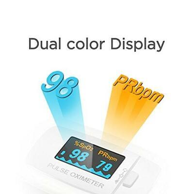 Contec Fingertip Pulse Oximeter Dual Color Oled Spo2 Oxygen Heart Rate Case