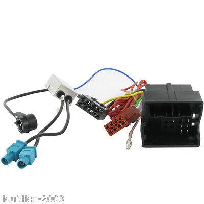 CT20VW05 AUDI A3 A4 TT UP TO 2009 QUADLOCK FAKRA ISO HARNESS ADAPTER LEAD