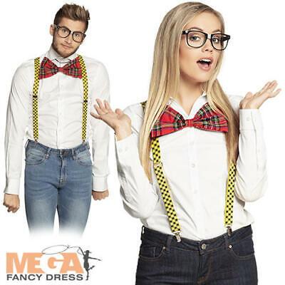 Nerd Kit Adults Fancy Dress School Geek Uniform Mens Ladies Costume Accessories