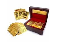 Gold Playing Cards - Brand New - Kilmarnock Area