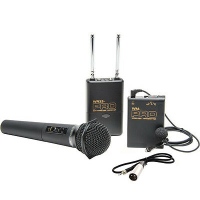 Pro XF405 WLHM DC XLR wireless lavalier handheld mic for Canon XF705 XF400