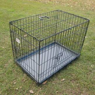 "BENGO 48"" Collapsible Metal Pet Dog Cage Crate - XXLarge"