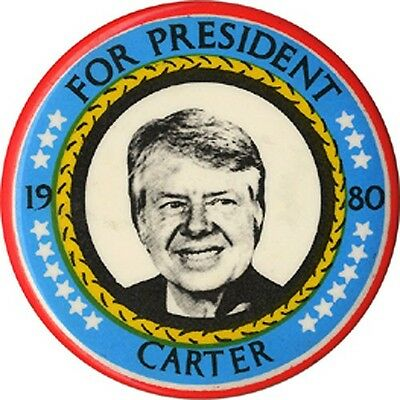 1980 Jimmy Carter FOR PRESIDENT Campaign Button (2372)