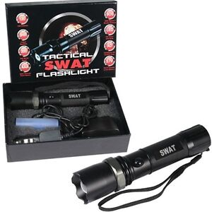 Multifunction SWAT Tactical Rechargeable Flashlight CREE ...
