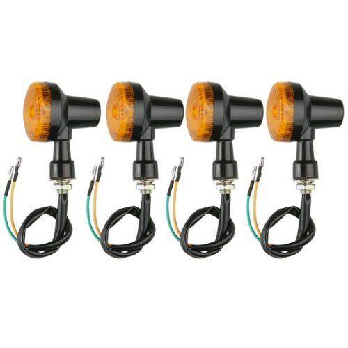 4 Pcs Motorcycle Motorbike Amber Turn Signal Light Bulb Indicator 12V BT