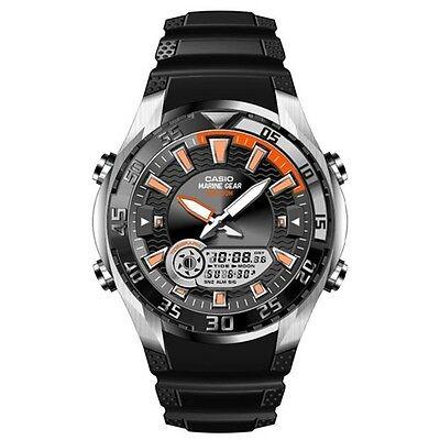 - Casio AMW710-1A OUTGEAR Resin Band Marine Gear Watch Moon Data Tide Graph