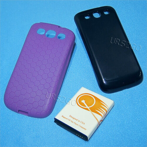 7500mah Extended Battery Blue Cover Case For At&t Samsung...