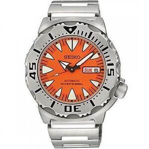 SRP309K1 SRP309 SRP309K Seiko 5 Sports Automatic Orange Monster Diver Watch