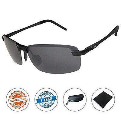 J+S Ultra Lightweight Men&39s Rimless Sports Sunglasses, Pol