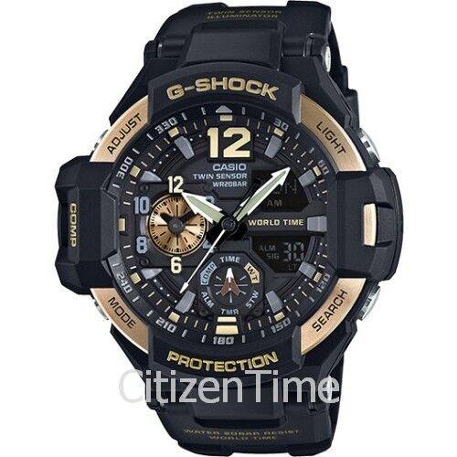 G-Shock Men's Analog-Digital Gravitymaster Black Strap Watch