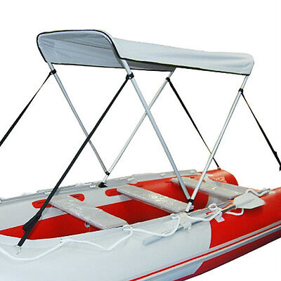 - Portable Bimini Top Cover Canopy For Inflatable Kayak Canoe Boat (2 bow)