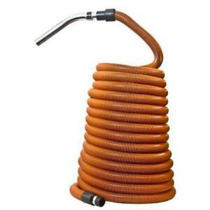 "Plastiflex Built-in & Central Vacuum Hose, 1 1/4"" X 50' Orange"