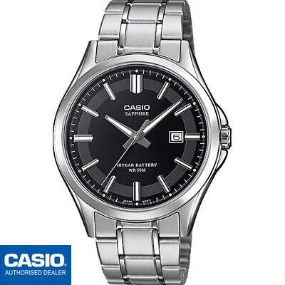 CASIO MTS-100D-1AVEF⎪MTS-100D-1A⎪CASIO Collection Men⎪CRISTAL SAFIRO⎪METAL⎪NEGRO