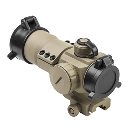 NcStar FDE Tan Color Red Green Blue Dot Sight w/ Mount Fits Picatinny Rails