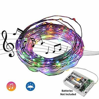 32.8Ft 10M Sound Activated Music LED String Lights Waterproof Copper Wire Multi](Sound Activated Leds)