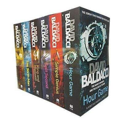 David Baldacci Collection King and Maxwell Series Simple Genius 6 Books Set NEW