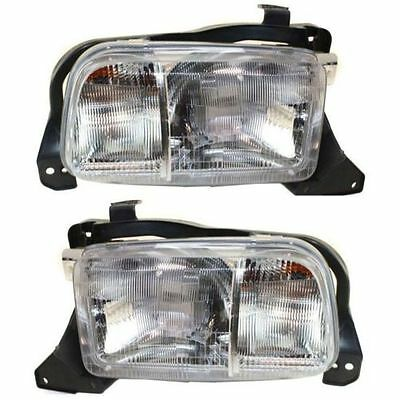 FITS 1999 - 2004 CHEVROLET TRACKER HEADLIGHTS HEADLAMPS PAIR LEFT & RIGHT