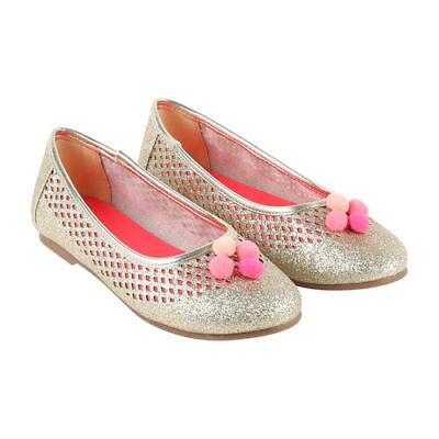 BILLIEBLUSH Mädchen Ballerinas gold U19134 Sandalen Kinder Schuhe Glitter NEU