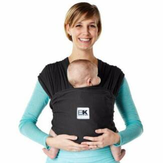 Baby K'tan® Breeze Baby Carrier Wrap Sling in Black, Small