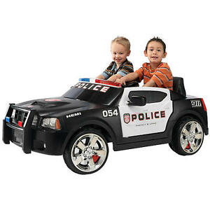 Dodge Charger Police Car 12 Volt Ride On (X2)