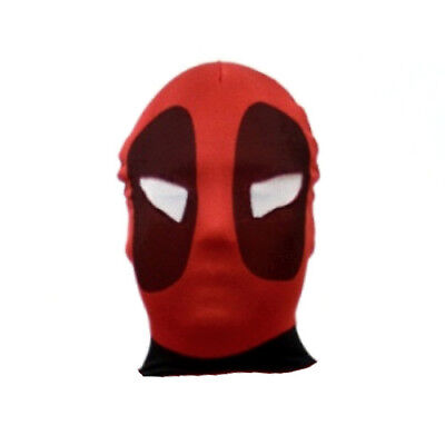 See Through Mask Halloween (Deadpool Adult Mask Cosplay Costume Spandex See Through Red Mens Halloween)