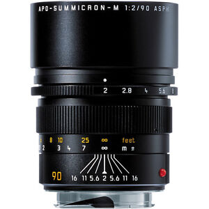 Leica Telephoto 90mm f/2.0 APO Summicron M Aspherical Manual Focus Lens 11884
