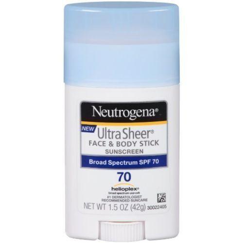 Neutrogena Sunscreen Ultra Sheer Face & Body Stick SPF 70 1.