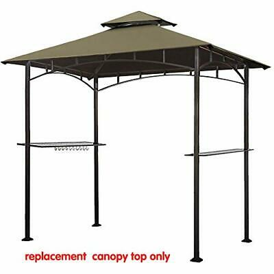 Eurmax 5FT x 8FT Double Tiered Replacement Canopy Grill BBQ Gazebo Roof Top Gaze