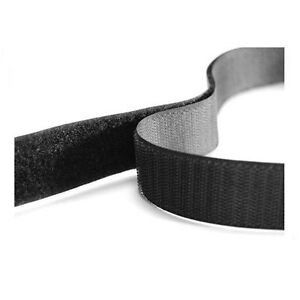 Premium Hook & Loop Velcro Sew On Tape, Stitch On Hook and Loop Fastener Per 1m