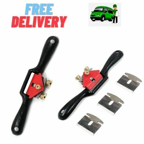 Metal Spokeshave Adjustable Spoke Shave Woodworking Hand Cutting Tool W/ Blades