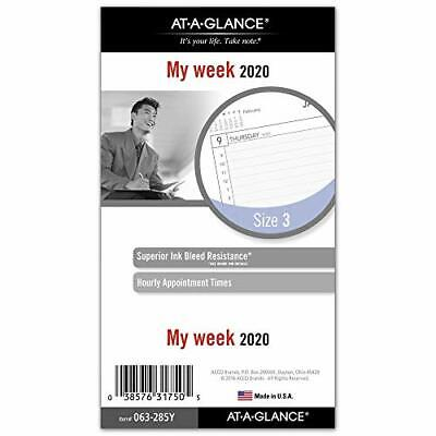 At-a-glance 2020 Weekly Planner Refill Day Runner 3-34 X 6-34 Portable Si