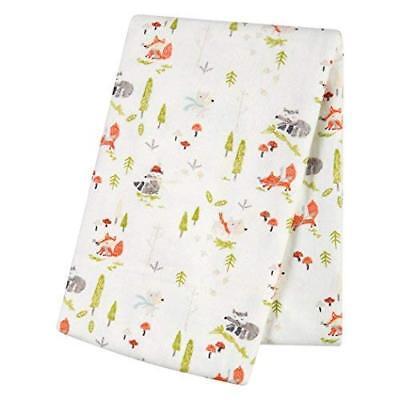 - TN 1 Piece Baby Green Orange Winter Woods Deluxe Flannel Crib Blanket Newborn
