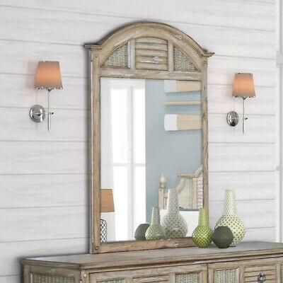 Wall Mirror Vertical Shutter Wicker Home Decor Tropical Bedroom Furniture