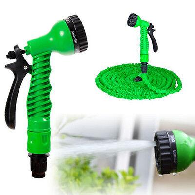 Expandable Garden Hose Flexible 50/75/100 Foot Pipe Expanding With Spray Gun