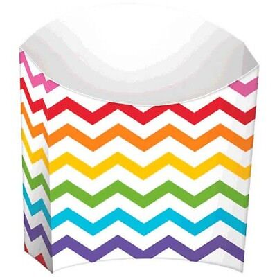 Chevron Party Supplies (RAINBOW CHEVRON SNACK CONTAINERS (24) ~ Birthday Party Supplies Paper Serving)