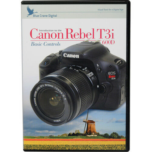 Blue Crane Canon Rebel T3i 600D Camera Instructional DVD Basic Controls Training