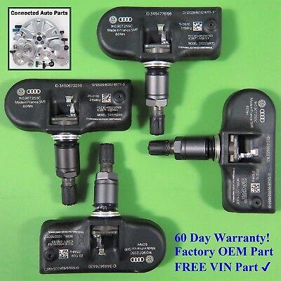 Set of 4 Volkswagen Audi TIRE PRESSURE SENSOR TPMS OEM 1K0 907 255C SET TS04