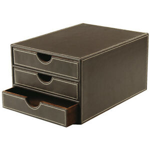 osco faux leather 3 drawer sorter new next working day courier. Black Bedroom Furniture Sets. Home Design Ideas