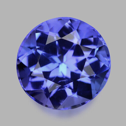 2.17cts CALIBRATED 8MM ROUND CUT NATURAL VIOLET BLUE TANZANITE WATCH VIDEO