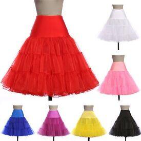 New Retro Swing 50s 80s Tutu Petticoat Wedding Underskirt Rockabilly Fancy Dress