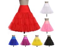 New Retro Swing 50s 80s Tutu Petticoat Wedding Underskirt Rockabilly Fancy Dress