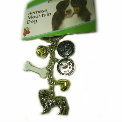 Bernese Mountain Dog Key Chain, House Keys, Car Keys, Gifts for Dog Owners 9355
