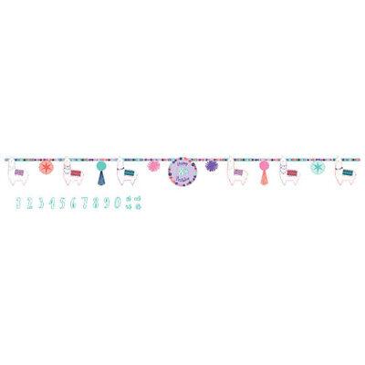 Purple Birthday Banner (LLAMA FUN JUMBO LETTER BANNER KIT ~ Birthday Party Supplies Decoration)