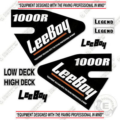 Leeboy 1000r Decal Kit Asphalt Paver Equipment Decals - 7 Year Vinyl